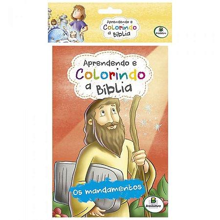 KIT APRENDENDO E COLORINDO A BÍBLIA COM 10 UNIDADES