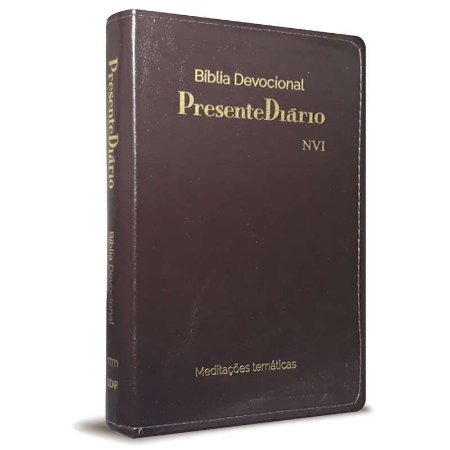 BIBLIA DEVOCIONAL NVI PRESENTE DIARIO LUXO MARROM