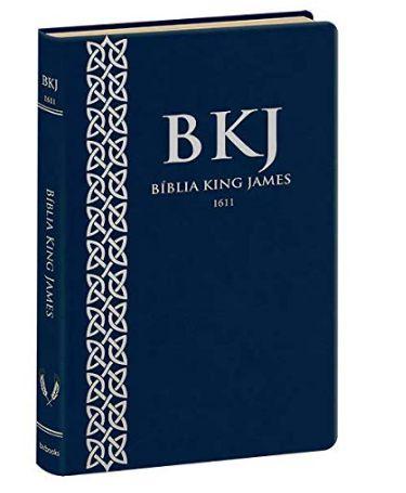 Bíblia King James 1611 Ultra Fina   Azul