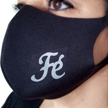 Máscara de proteção Higiênica reutilizável  Fé palavras  