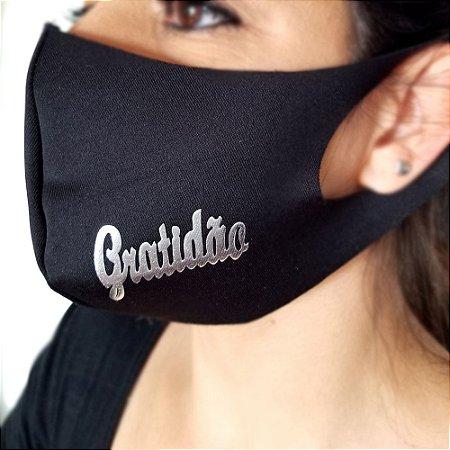 Máscara de proteção Higiênica reutilizável |Gratidão|