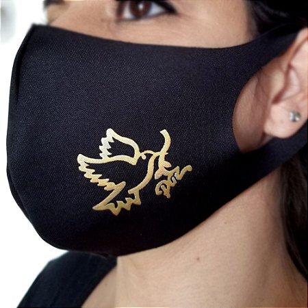 Máscara de proteção Higiênica reutilizável |Pomba Paz|