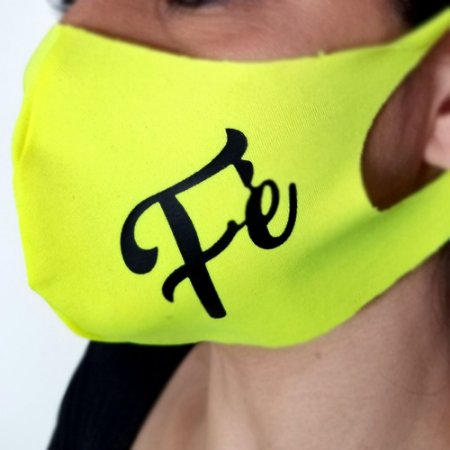 Máscara de proteção Higiênica reutilizável |Neon Fé|
