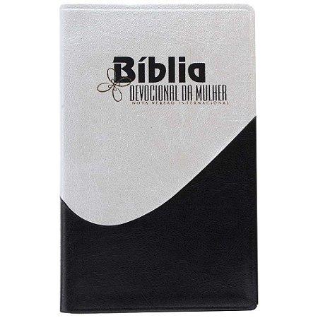 Bíblia NVI Devocional da Mulher - capa Pérola com azul
