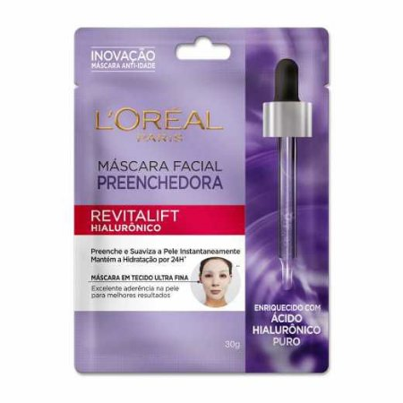 Máscara Facial Preenchedora L'oréal Paris Revitalift Hialurônico 30g