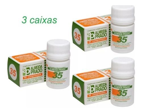 Leve Mais Por Menos - (Kit 3 Unidades) - Complexo Homeopático 60 Comprimidos N. 35 Almeida Prado