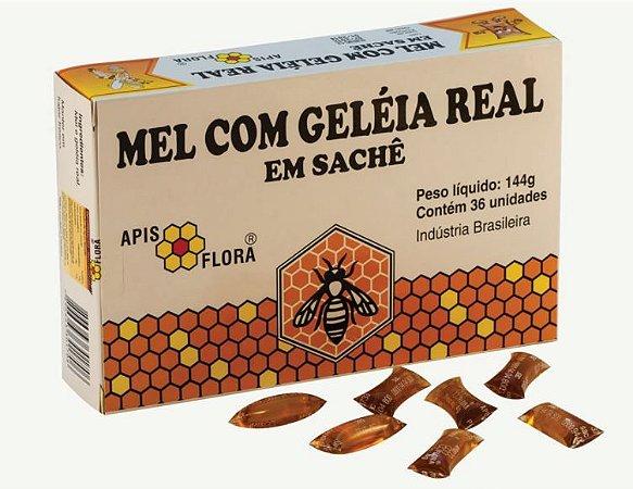 Composto de Mel com Geleia Real em Sachê Apis Flora com 36 Unidades