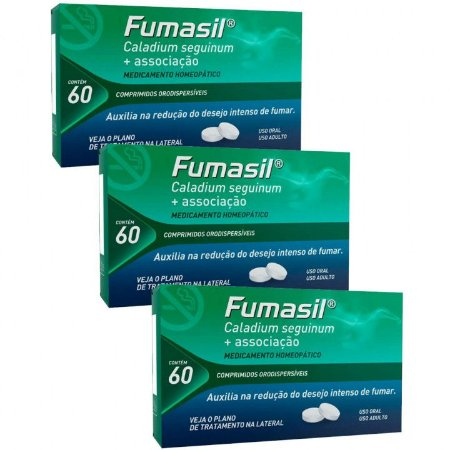 Leve Mais Por Menos - (Kit 3 Unidades) - Fumasil com 60 Comprimidos