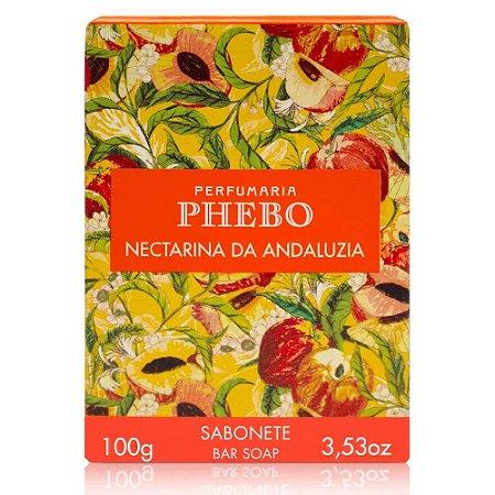 Sabonete em Barra Cremoso Phebo Mediterrâneo Nectarina da Andaluzia 100g
