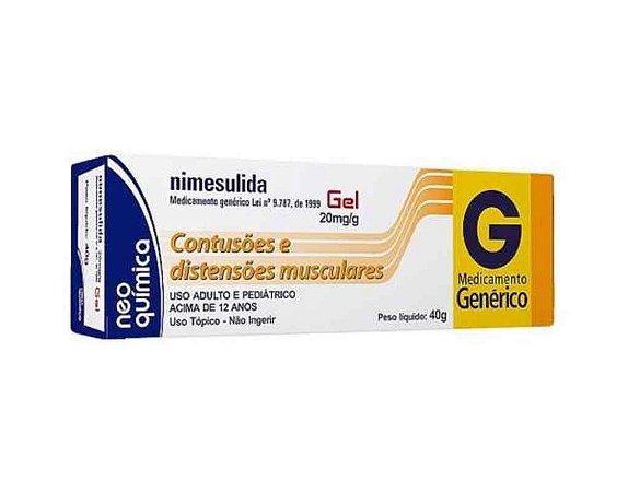 Nimesulida 20mg Gel Dermatológico 40g Neo Quimica Genérico