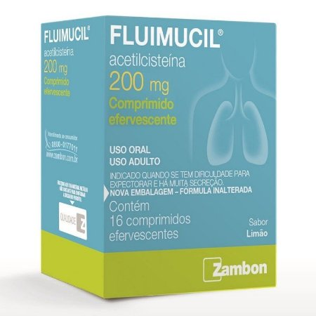Fluimucil 200mg 16 Comprimidos Efervescentes