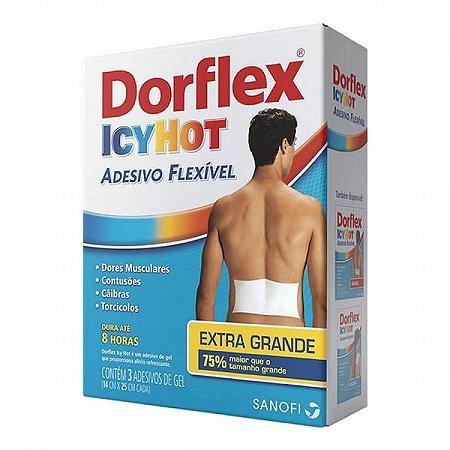 Dorflex Icy Hot Adesivos Extra Grande 3 Unidades
