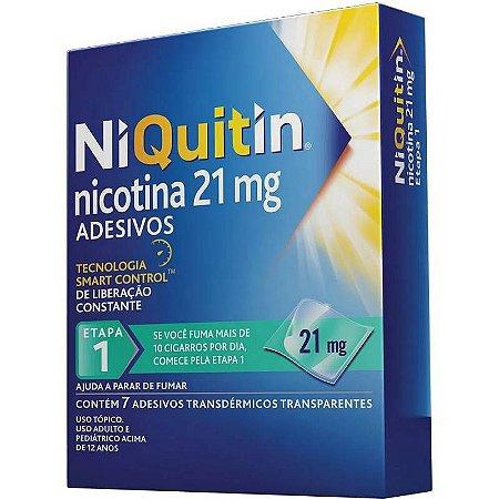Niquitin Clear 21mg 7 Adesivos