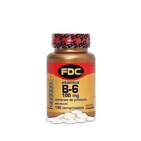 Vitamina B6 100mg 100 Comprimidos FDC
