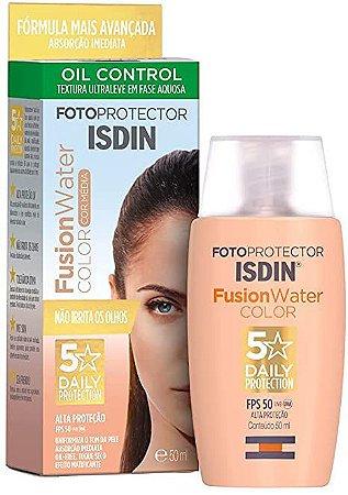 Fotoprotetor Facial Isdin Fusion Water Color Média FPS50 50ml