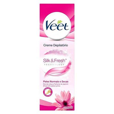 Creme Depilatório Veet Silk & Fresh Peles Normais e Secas 180ml