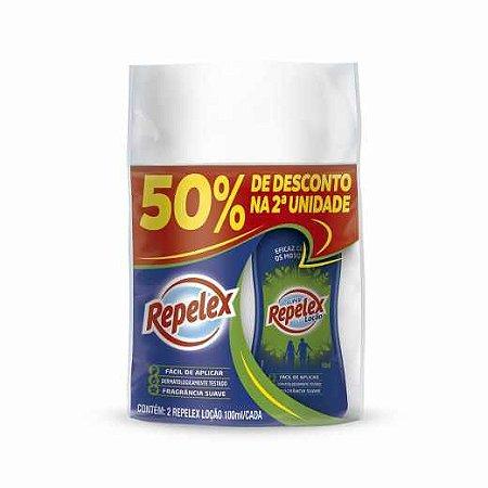 Repelente Repelex Loção 100ml 50% de Desconto na 2ª Unidade