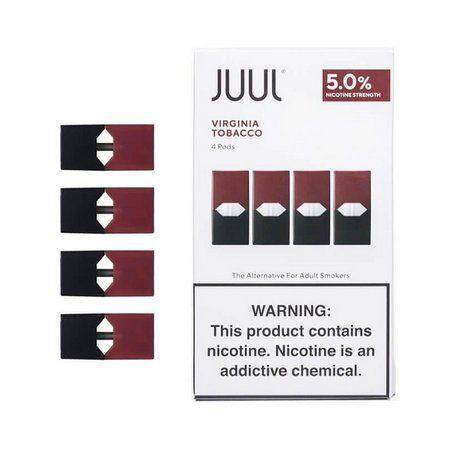 Refil ( pack of 4 ) Juul Virginia Tobacco 5%