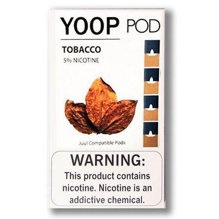 Refil Juul Compatível - YOOP - Tobacc ( Pack of 4 ) 5%