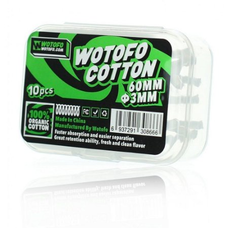 Wotofo Algodão (cotton) 60mm 3mm - 30pcs