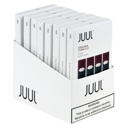 10 x Refil Juul (PACK OF 4) - Virginia Tobacco 5%