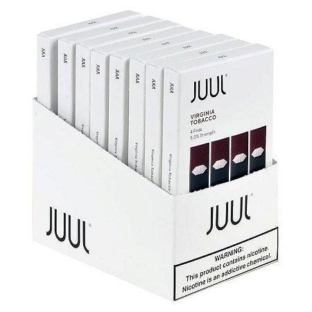10 x Refil Juul (PACK OF 4)  Virginia 5%