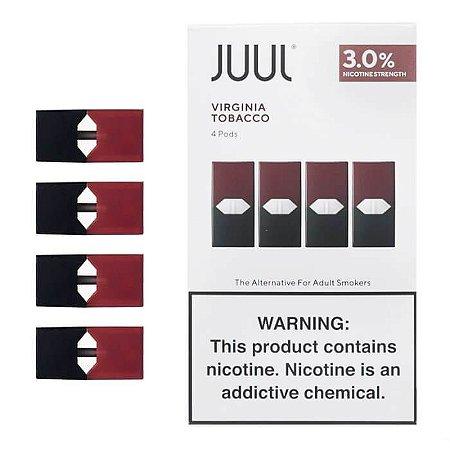 Refil Juul (PACK OF 4) Virginia Tobacco 3%