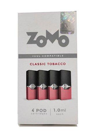 Refil Juul Zomo Classic Tobacco 1.0ml c/ 4 pods - 3,5% e 5%