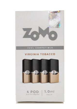 Refil Juul Zomo Virginia Tobacco 1.0ml c/ 4 pods - 3,5% e 5%