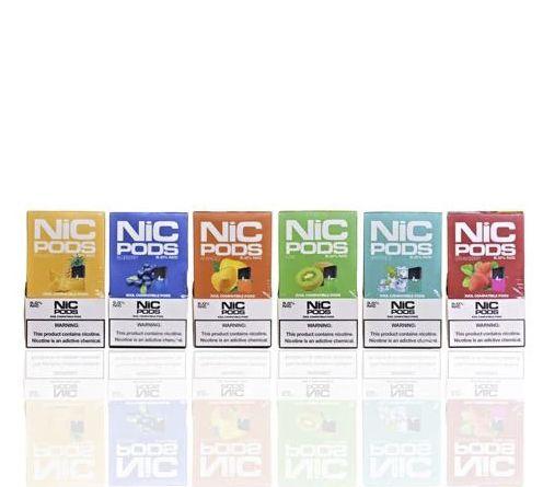 Refil compatível com Juul Nic Pods Strawberry c/ 4 pods - 3,5% e 5%