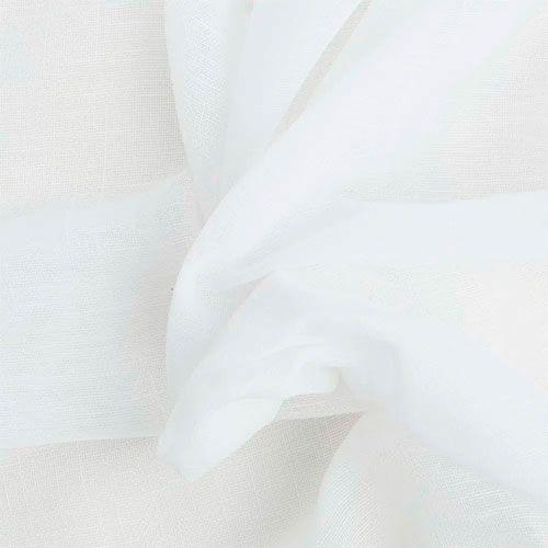 Cortina Voil Gaze de Linho Branco