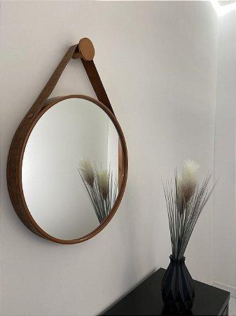 Espelho decorativo de 60cm com Alça - Cobre