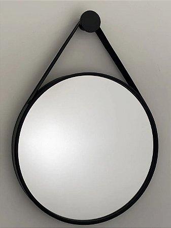 Espelho decorativo de 60cm com Alça - Preto