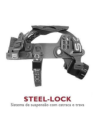 Carneira com Jugular p/ capacete Steel-Look Steelflex