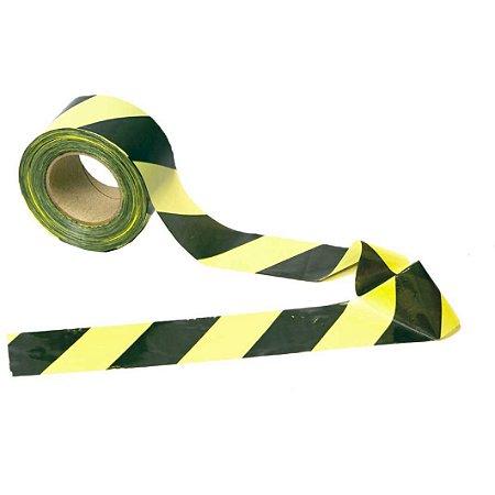 Fita isolamento Amarelo & Preto 200mx70mm Carbografite