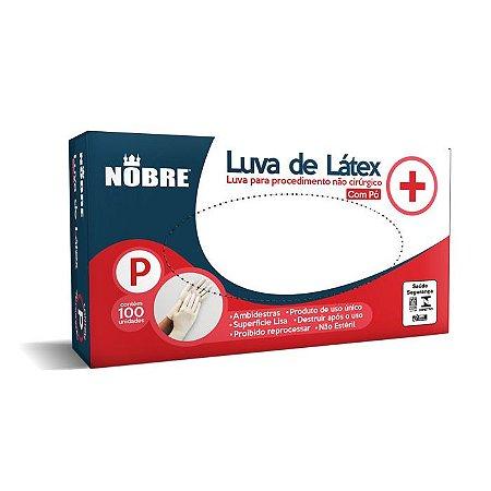 Luva descartável Latex Branco com pó Med CX100 Nobre CA 39556
