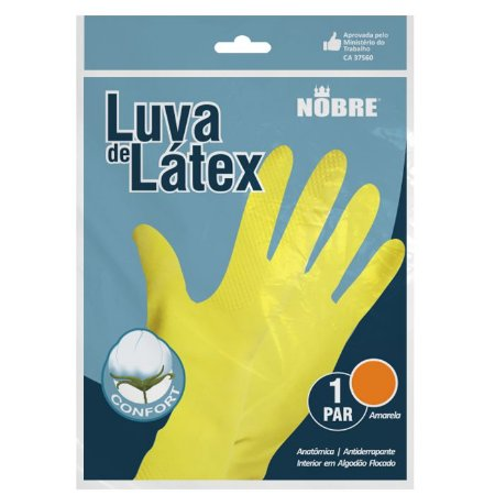 Luva reuso Latex Amarelo Nobre CA 37560