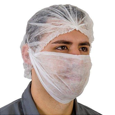 Máscara Barba Dupla TNT Branco com elástico PCT50 Prevemax
