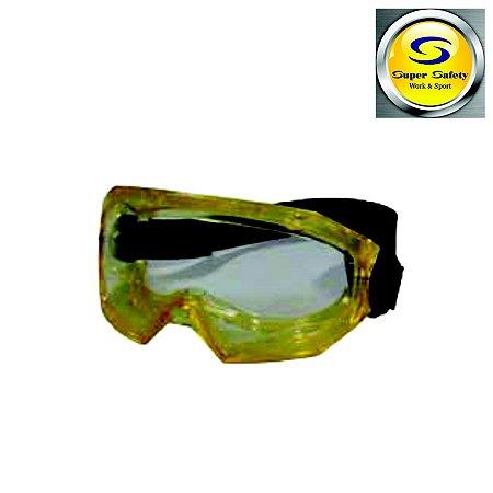 Óculos Ampla Visão Policarbonato Transparente SS-9 Supersafety CA 36424
