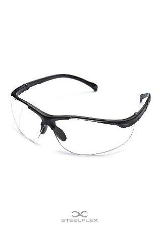 Óculos Policarbonato Transparente lente/UV Milano Steelflex CA 40899