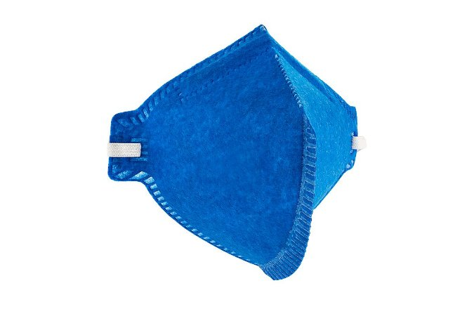 Respirador descartável PFF2 Azul sem válvula dobrável Prosafety Pro Agro CA 38504