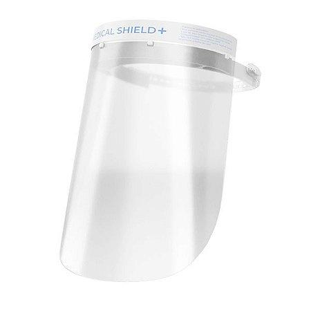 Protetor Facial plástico 0,5mm testera/espuma Medical Shield plus Allprot - Transparente