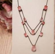 Colar com quartzo rosa blush