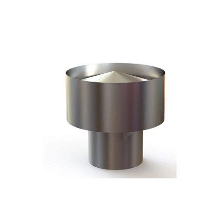 Chapéu Canhão 200mm Inox para calefator