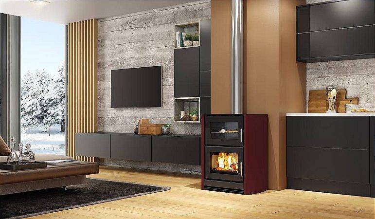 Calefator com forno LIV 416/417 de dupla combustão