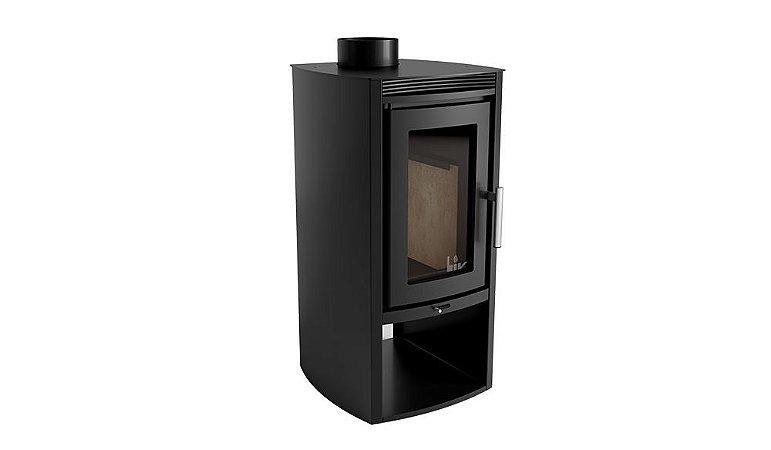 PROMOCIONAL - Calefator de Dupla Combustão Concept LIV305 + kit de instalação para Calefator | 150mm Inox -