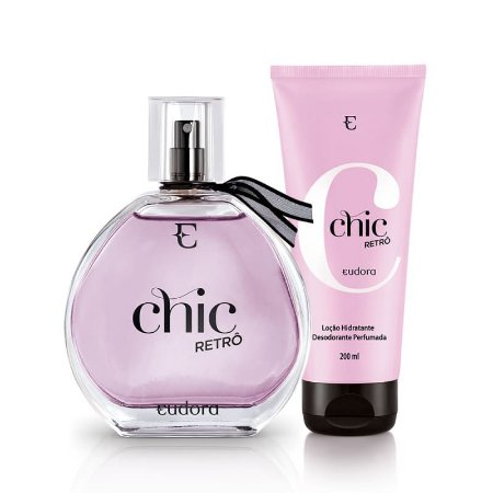 Kit Chic Retrô Eudora Perfume + Hidratante Nova Embalagem