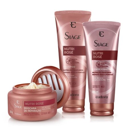 Kit Shampoo Nutrição Profunda  Siage Nutri Rose
