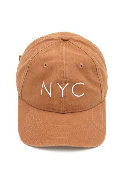 BONE NEW ERA ORIGNIAL 940UNST NEW ERA WASHED DUCK NYC TAN SS20 NEP20BON108