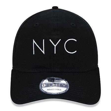 BONE NEW ERA ORIGINAL 940UNST NEW ERA WASHED DUCK NYC BLK SS20 NEP20BON107